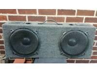 Carpeted speakers. 2 x 12'' plus 2 tweeters.
