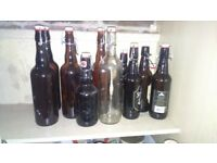 Free swing top bottles for use in home brewing