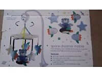 Cot mobile, brand new and unopened, space dreamer theme