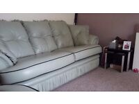 Matching 3 seater & 2 seater sofas + footstool fore sale