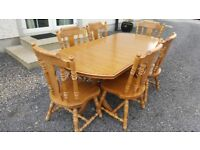 table with 6 chairs