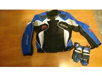 Motocycle trousers, jacket, helmet and gloves Brand new
