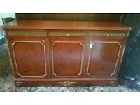 Large 3 door cabinet with 3 draws