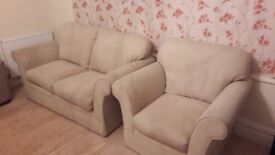 1 x Sofa (6ft) and 1 x armchair (3 ft 6inches) - Cream/Beige Colour from M&S