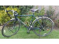 Mens Dawes Galaxy Tour Touring Bike with Antique Leather Seat
