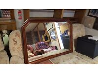 Hexagonal Wood-framed Mirror in Great Condition