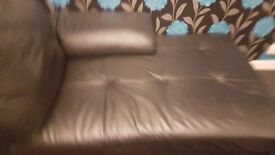 Black leather L Shaped