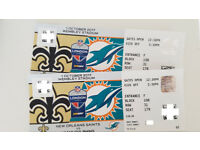 NFL Tickets Dolphins vs Saints 1 October 2017