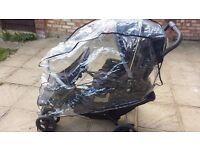 Double Buggy Graco Stadium Duo Tandem Pushchair - Oxford comes with Raincover