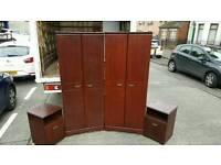 Solid rossmore magohony wardrobe + matching locker £75 per set