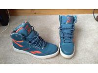 Men's Reebok trainer boots. Blue/orange UK 7. Excellent cond. PICK UP HARROGATE