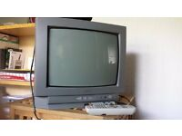 Small portable Sanyo TV with freeview box