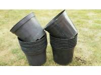 Plant pots 7.5 litres x18 used plastic pots