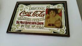 Pub mirror coca cola highly collectable ideal £15