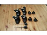 Thule 750 footpack,1454 fixing kit and 135cm rails.