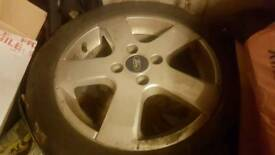 "4 ford fiesta 16"" Alloy Wheels with 4 tyres in ok condition"