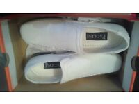Mens Paolini White Slip On Casual Shoes