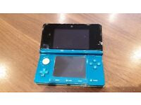 Nintendo 3DS Handheld Console - Aqua Blue-UNBOXED.
