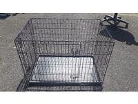 Metal black dog cage - large