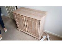Living Room Furniture - limed Oak Cupboard and Corner Cabinet