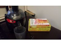 Philips juicer and Juice master books x 4