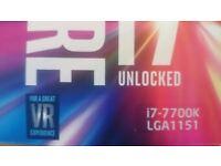 Intel i7 7700K CPU Socket 1151 New Sealed Box for sale.