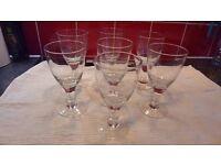 7 IKEA handblown wine glasses