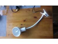 Desk lamp and clip lamp-White