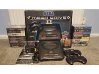 Mega Drive 2 + games + TV