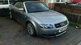 Audi a4 cabriolet red leather interior