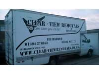 Clear-View House Removals And Deliveries. We can save you ££££
