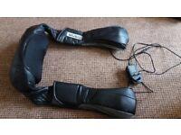 Electric back/shoulder/neck massager. Heat option, rotating balls. £30