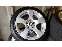 Genuine 17 inch bmw alloys with brand new tyres 225 45 17 mint condition