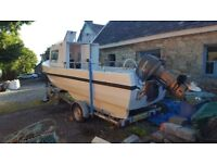 Fishing boat for sale 19 foot with 70hp enginge + trailer