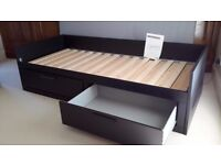 Sofa / single bed frame with further pull out frame to create a double bed. IKEA BRIMNES.