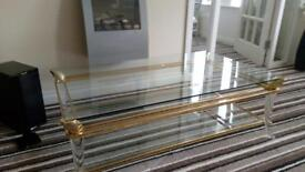 Glass top coffee table was £860 new