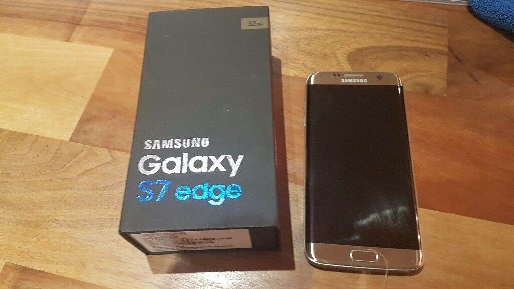 Samsung S7 Edge Gold. Mint condition. Boxed. 32gb.