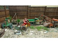 Antique ranson,hayter , lawnmowers ,Gem rotavator all turn over but don't start