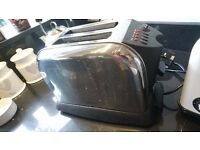 stainless steel / black twin toaster £5 Send, Woking, Surrey