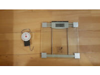 Electronic Glass Platform Scales + Handheld Luggage scales