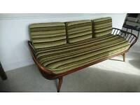 ercol furniture, daybed,nest of pebble tables and drop leaf coffee table