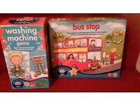 2 Orchard Toys Games- bus stop & washing machine games