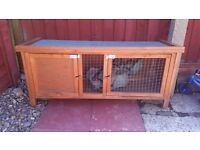 Used Rabbit hutch with thermal cover