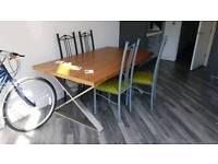 Dwell cross leg walnut extendable Dining Table