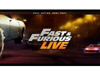 2x Fast & Furious Live Tickets - Birmingham Barclay Card Arena