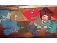 10 items Boys clothes bundle Jacket Tops size 18-24 months