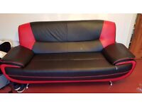 RED BLACK SOFA