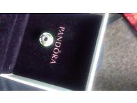 Green glass Pandora charm
