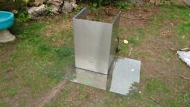 Further Reduced: Caple fgc910 stainless steel and glass extractor chimney 900mm wide