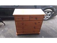 Pine dressing table wardrobe drawers
